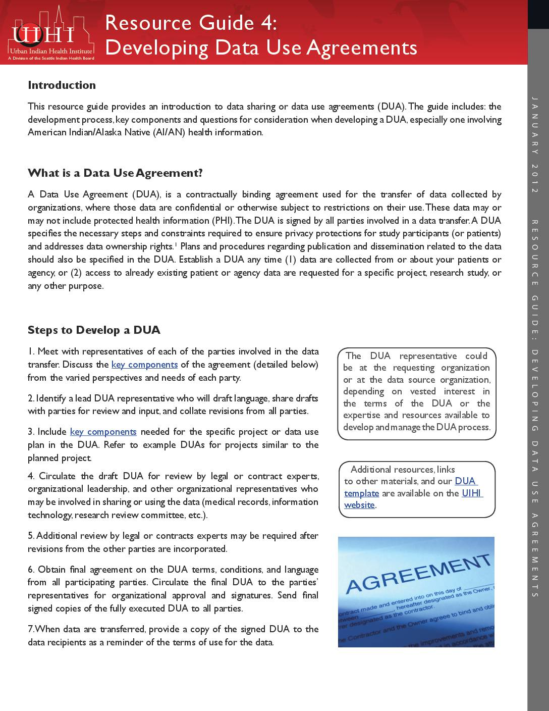 Resource Guide 4 Developing Data Use Agreements The Urban Indian